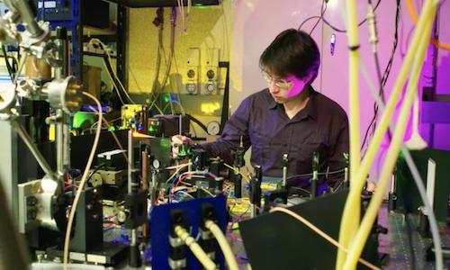 Setup used to investigate materials for a telecom-compatible quantum memory. Credit: Stuart Hay